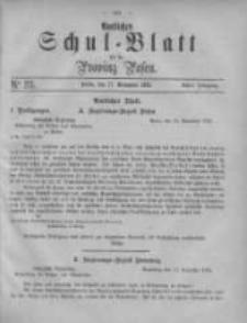 Amtliches Schul-Blatt für die Provinz Posen 1875.11.27 Jg.8 Nr23