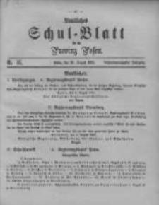 Amtliches Schul-Blatt für die Provinz Posen 1895.08.20 Jg.28 Nr16