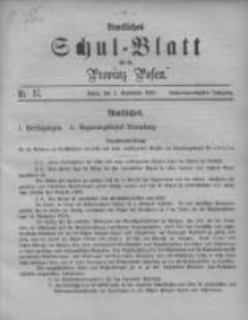 Amtliches Schul-Blatt für die Provinz Posen 1895.09.05 Jg.28 Nr17