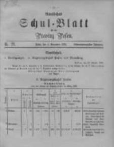 Amtliches Schul-Blatt für die Provinz Posen 1895.11.05 Jg.28 Nr21