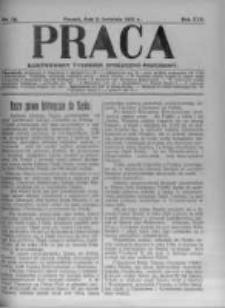 Praca: ilustrowany tygodnik społeczno-narodowy. 1921.04.03 R.25 nr14