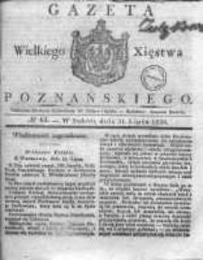 Gazeta Wielkiego Xięstwa Poznańskiego 1830.07.31 Nr61