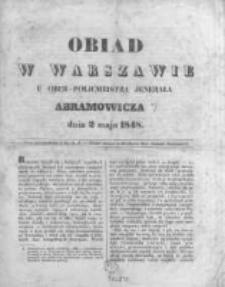 Obiad w Warszawie u Ober-Policmeistra Jenerała Abramowicza dnia 2 maja 1848