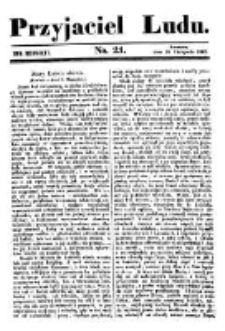 Przyjaciel Ludu; czyli tygodnik potrzebnych i pożytecznych wiadomości 1842.11.19 R.9 T.1 Nr21