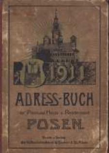 Adressbuch der Provinzial-Hauptstadt Posen. 1911