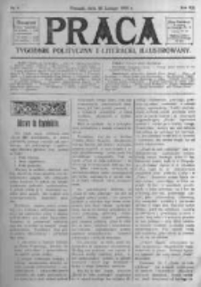 Praca: tygodnik polityczny i literacki, illustrowany. 1908.02.23 R.12 nr8