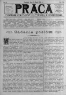 Praca: tygodnik polityczny i literacki, illustrowany. 1908.05.03 R.12 nr18