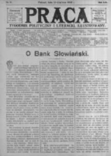 Praca: tygodnik polityczny i literacki, illustrowany. 1909.06.13 R.13 nr24