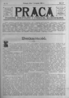 Praca: tygodnik polityczny i literacki, illustrowany. 1910.08.07 R.14 nr32