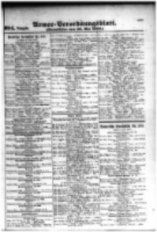 Armee-Verordnungsblatt. Verlustlisten 1916.05.26 Ausgabe 994