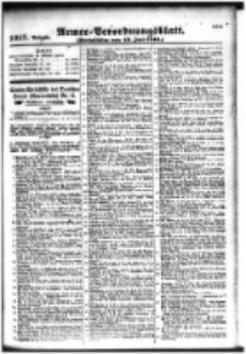 Armee-Verordnungsblatt. Verlustlisten 1916.06.19 Ausgabe 1018
