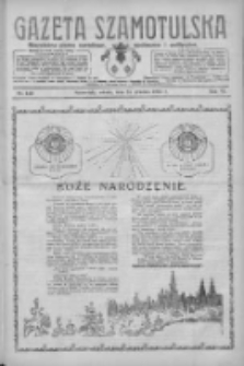 Gazeta Szamotulska: niezależne pismo narodowe, społeczne i polityczne 1927.12.24 R.6 Nr149