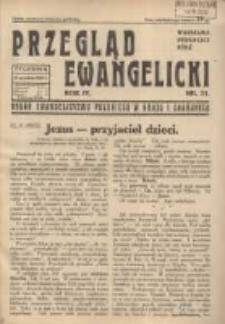 Przegląd Ewangelicki: organ ewangelizmu polskiego w kraju i zagranicą 1937.09.12 R.4 Nr23