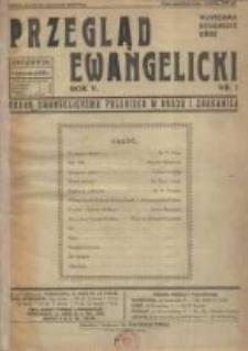 Przegląd Ewangelicki: organ ewangelizmu polskiego w kraju i zagranicą 1938.01.01 R.5 Nr1