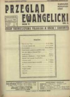 Przegląd Ewangelicki: organ ewangelizmu polskiego w kraju i zagranicą 1938.01.16 R.5 Nr3