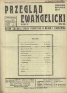 Przegląd Ewangelicki: organ ewangelizmu polskiego w kraju i zagranicą 1938.03.06 R.5 Nr10