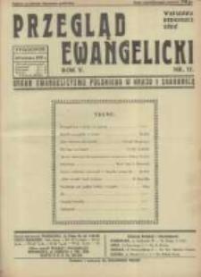 Przegląd Ewangelicki: organ ewangelizmu polskiego w kraju i zagranicą 1938.04.24 R.5 Nr17
