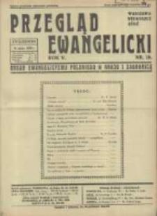 Przegląd Ewangelicki: organ ewangelizmu polskiego w kraju i zagranicą 1938.05.15 R.5 Nr20