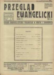 Przegląd Ewangelicki: organ ewangelizmu polskiego w kraju i zagranicą 1938.09.04 R.5 Nr36