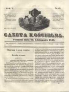 Gazeta Kościelna 1847.11.22 R.5 Nr47