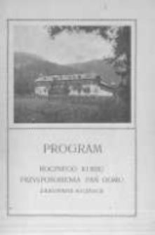 Program rocznego kursu przysposobienia pań domu Zakopane-Kuźnice