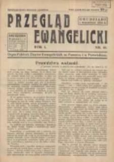 Przegląd Ewangelicki: organ Polskich Zborów Ewangelickich na Pomorzu i w Poznańskiem 1934.09.01 R.1 Nr15