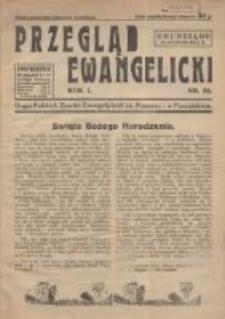 Przegląd Ewangelicki: organ Polskich Zborów Ewangelickich na Pomorzu i w Poznańskiem 1934.12.25 R.1 Nr22