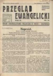 Przegląd Ewangelicki: organ ewangelizmu polskiego w kraju i zagranicą 1937.11.14 R.4 Nr32