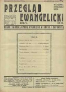 Przegląd Ewangelicki: organ ewangelizmu polskiego w kraju i zagranicą 1938.07.31 R.5 Nr31