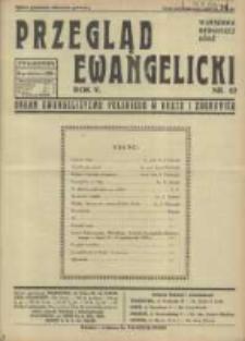 Przegląd Ewangelicki: organ ewangelizmu polskiego w kraju i zagranicą 1938.10.16 R.5 Nr42