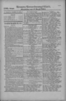 Armee-Verordnungsblatt. Verlustlisten 1916.08.17 Ausgabe 1105