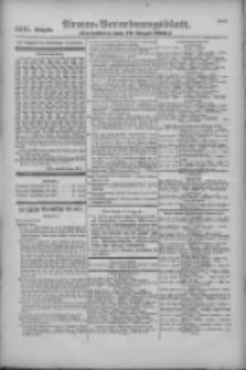 Armee-Verordnungsblatt. Verlustlisten 1916.08.19 Ausgabe 1111