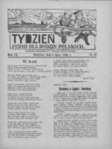 """Tydzień: pismo dla rodzin polskich: dodatek niedzielny do """"Gazety Szamotulskiej"""" 1934.07.08 R.9 Nr27"""
