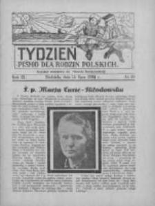 """Tydzień: pismo dla rodzin polskich: dodatek niedzielny do """"Gazety Szamotulskiej"""" 1934.07.15 R.9 Nr28"""