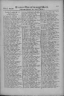 Armee-Verordnungsblatt. Verlustlisten 1916.08.26 Ausgabe 1124