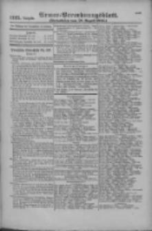 Armee-Verordnungsblatt. Verlustlisten 1916.08.28 Ausgabe 1125