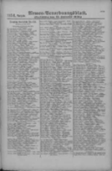 Armee-Verordnungsblatt. Verlustlisten 1916.09.13 Ausgabe 1154