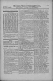Armee-Verordnungsblatt. Verlustlisten 1916.09.25 Ausgabe 1173