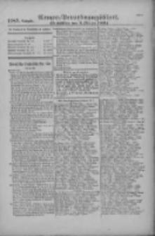 Armee-Verordnungsblatt. Verlustlisten 1916.10.04 Ausgabe 1189