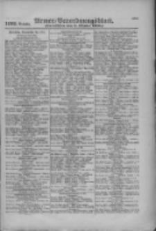 Armee-Verordnungsblatt. Verlustlisten 1916.10.05 Ausgabe 1192
