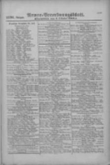 Armee-Verordnungsblatt. Verlustlisten 1916.10.07 Ausgabe 1196