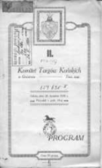 II. Program: Komitet Targów Końskich w Gnieźnie: sobota, dnia 26. kwietnia 1930 r.