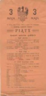 W sobotę dnia 3 maja 1930r. o godz 7.30 wieczorem urządzają uczniowie zakładu piąty koncert autorów polskich