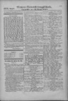 Armee-Verordnungsblatt. Verlustlisten 1916.10.19 Ausgabe 1215