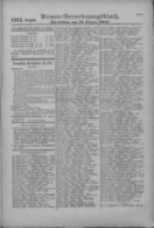 Armee-Verordnungsblatt. Verlustlisten 1916.10.24 Ausgabe 1223