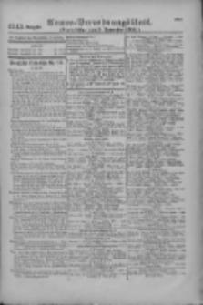 Armee-Verordnungsblatt. Verlustlisten 1916.11.03 Ausgabe 1243