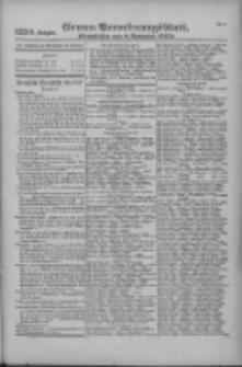 Armee-Verordnungsblatt. Verlustlisten 1916.11.08 Ausgabe 1250