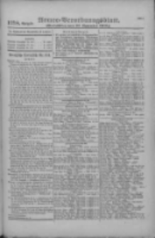 Armee-Verordnungsblatt. Verlustlisten 1916.11.13 Ausgabe 1258
