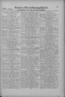 Armee-Verordnungsblatt. Verlustlisten 1916.11.20 Ausgabe 1271