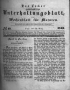Das Lycker gemeinnützige Unterhaltungsblatt, ein Wochenblatt für Masuren. 1843.03.25 Nr13